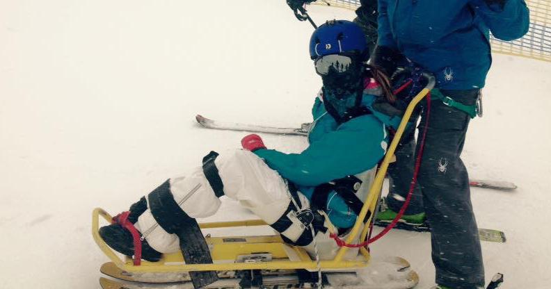 Gretta Serov skiing